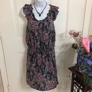 Old Navy Sleeveless Gray Floral Dress (size XS)